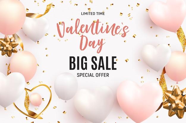 Valentijnsdag liefde en gevoelens verkoop achtergrond. illustratie