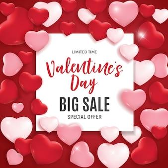 Valentijnsdag liefde en gevoelens verkoop.