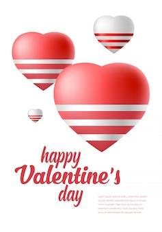 Valentijnsdag. liefdesymbolen met harten.