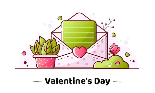Valentijnsdag lineaire afbeelding