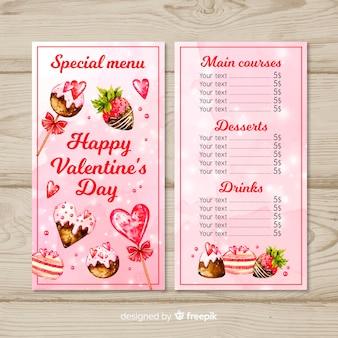 Valentijnsdag menu