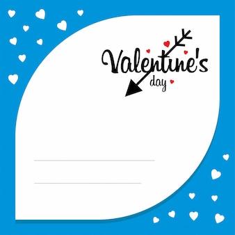 Valentijnsdag met blauwe achtergrond