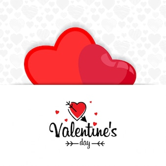 Valentijnsdag met witte patroonachtergrond