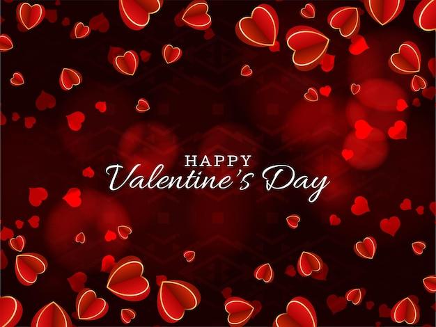 Valentijnsdag mooie achtergrond met hartjes Gratis Vector