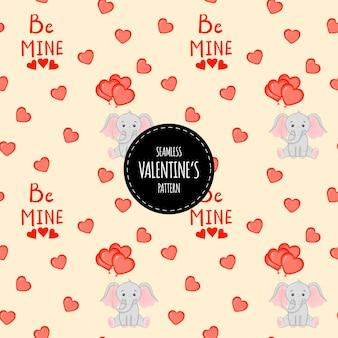 Valentijnsdag naadloze patroon. cartoon-stijl. vector illustratie.