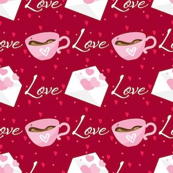 Valentijnsdag naadloze patroon.