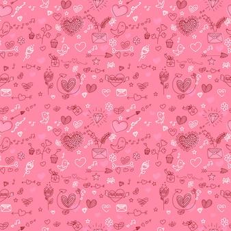Valentijnsdag naadloze patroon