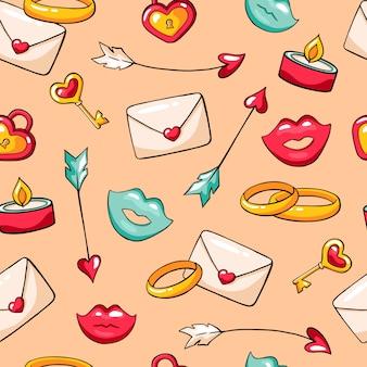 Valentijnsdag naadloze vector patroon