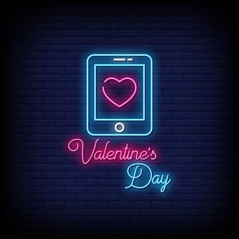 Valentijnsdag neon uithangbord