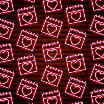 Valentijnsdag neon