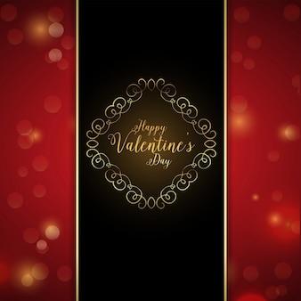 Valentijnsdag ontwerp met bokeh lichten