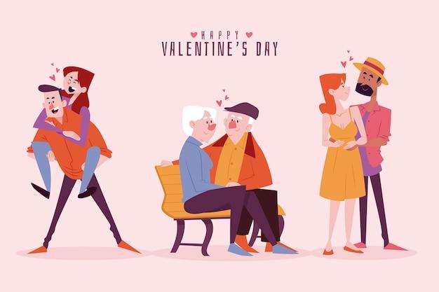 Valentijnsdag paar collectie