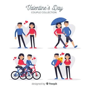 Valentijnsdag paar date collectie