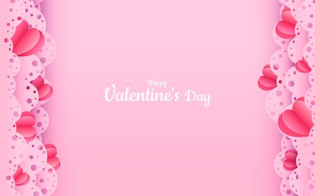 Valentijnsdag papier gesneden frame