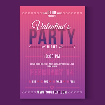 Valentijnsdag partij flyer / poster