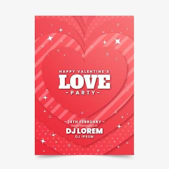 Valentijnsdag partij flyer