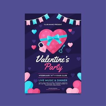 Valentijnsdag partij folder sjabloon
