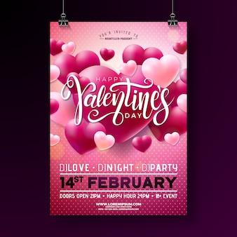 Valentijnsdag partij folder