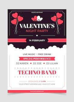 Valentijnsdag partij poster