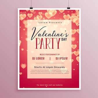 Valentijnsdag partij posterontwerp