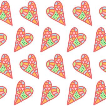 Valentijnsdag patroon achtergrond. abstracte doodle romantische illustratie voor ontwerp valentijnsdag kaart, uitnodiging, partij flyer, t-shirt, plakboek enz.