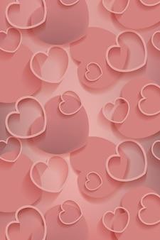 Valentijnsdag patroon achtergrond sjabloon