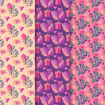 Valentijnsdag patroon collectie concept