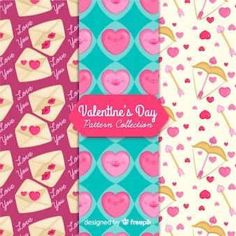 Valentijnsdag patroon collectie