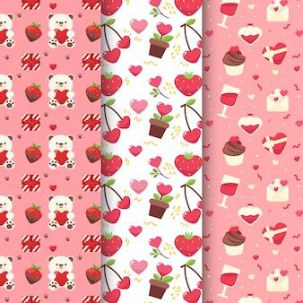 Valentijnsdag patroon ingesteld