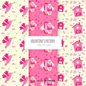 Valentijnsdag patroon pack