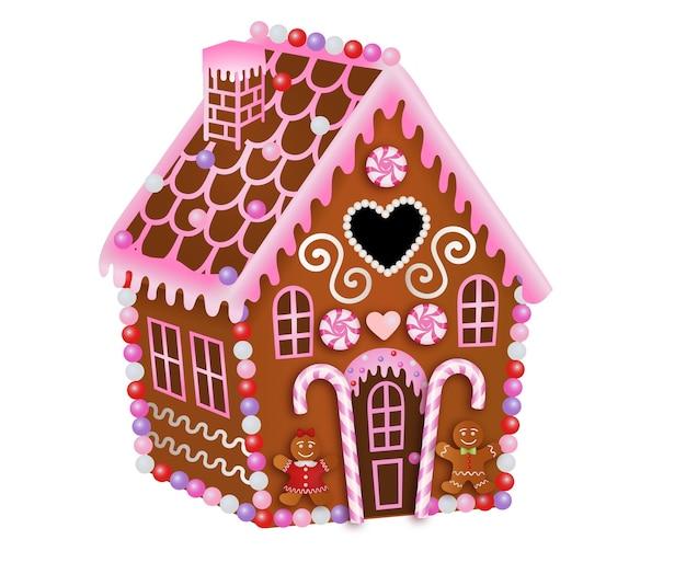 Valentijnsdag peperkoek huis