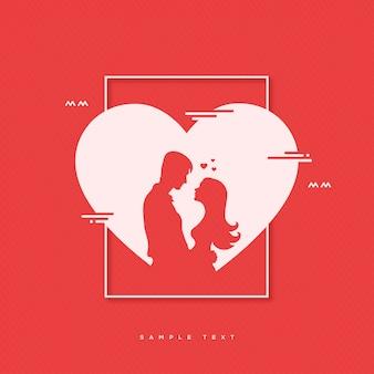 Valentijnsdag platte ontwerp achtergrond