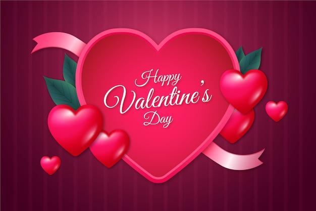 Valentijnsdag realistische stijl als achtergrond