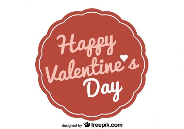 Valentijnsdag retro badge