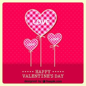 Valentijnsdag retro kaart ontwerp