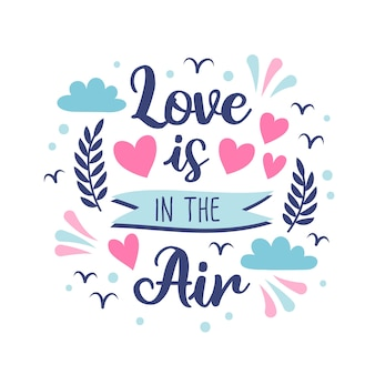 Valentijnsdag romantische belettering