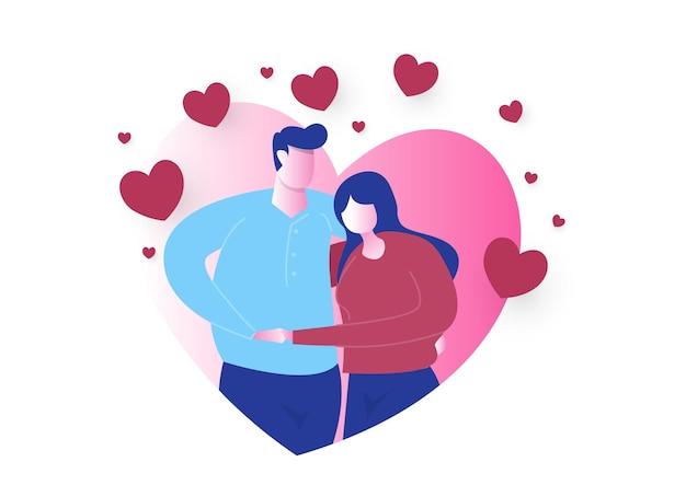 Valentijnsdag roze achtergrond. behang. happy valentijnsdag kaart met hartjes papier gesneden harten en wolken voor romantische valentijnsdag ontwerp, love concept