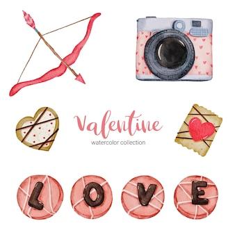 Valentijnsdag set elementen