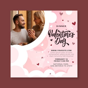 Valentijnsdag sjabloon folder