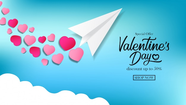 Valentijnsdag-sjabloon voor spandoek