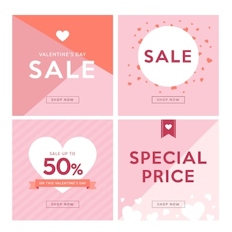 Valentijnsdag social media banner