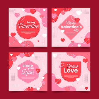 Valentijnsdag sociale media postverzameling