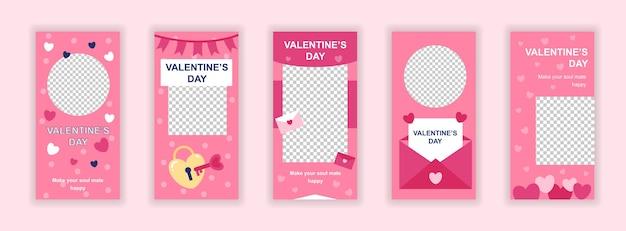 Valentijnsdag sociale media sjabloon voor spandoek