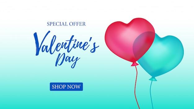 Valentijnsdag speciale aanbieding banner