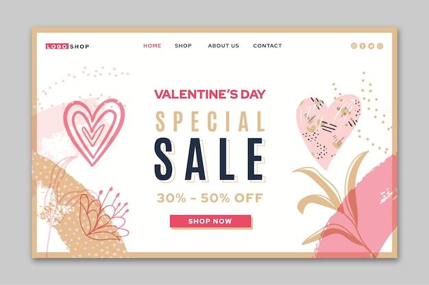 Valentijnsdag speciale verkoop bestemmingspagina
