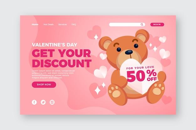Valentijnsdag speciale verkoopsjabloon