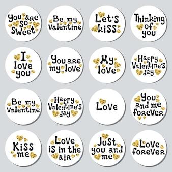 Valentijnsdag stickers instellen