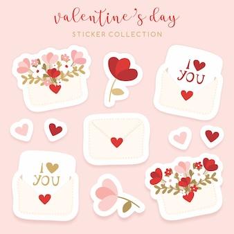 Valentijnsdag stickers