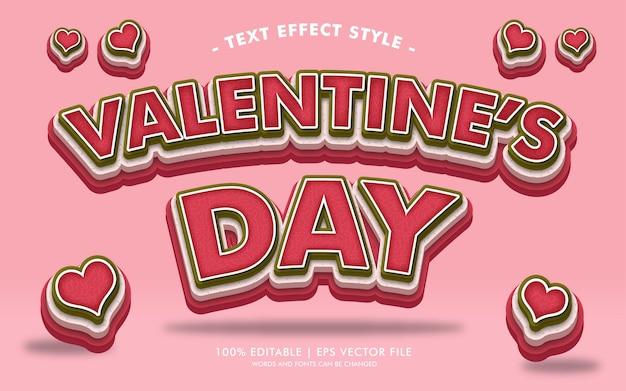 Valentijnsdag tekst effecten stijl