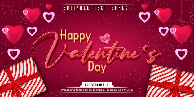 Valentijnsdag tekst, liefde stijl bewerkbaar teksteffect